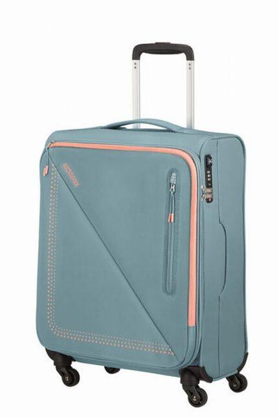American Tourister Kabinový cestovní kufr Lite Volt Spinner 44,5 l – GREY/PEACH