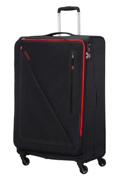 American Tourister Látkový cestovní kufr Lite Volt 102 l – BLACK/RED
