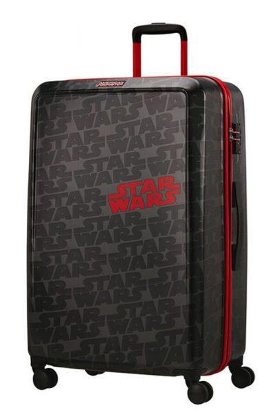 American Tourister Skořepinový cestovní kufr Funlight Disney Star Wars Logo 98,5 l – šedá