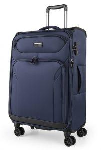March Látkový cestovní kufr Black Forest M 67/72 l – modrá
