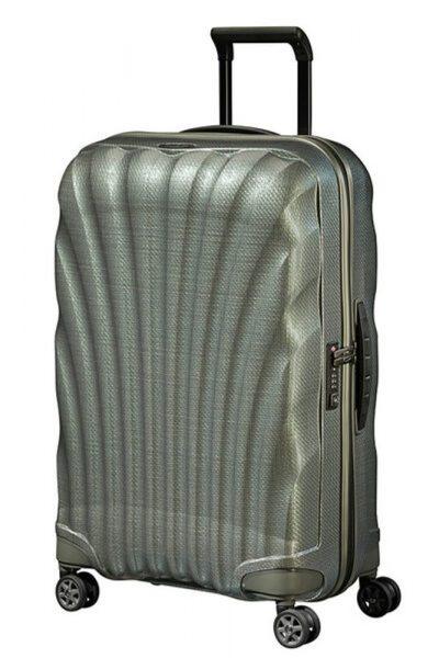 Samsonite Skořepinový cestovní kufr C-lite Spinner 68 l – metalic zelená