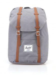 Šedý velký batoh s hnědými popruhy Herschel Retreat 19,5 l
