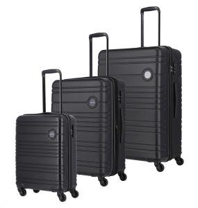 Travelite Sada cestovních kufrů Roadtrip S + M + L Black