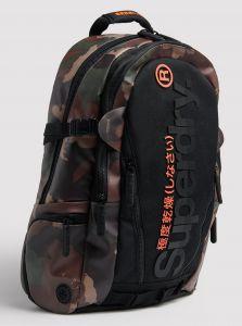 Hnědo-černý vzorovaný batoh Superdry