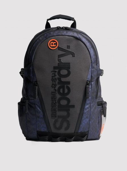 Šedo-modrý batoh Superdry