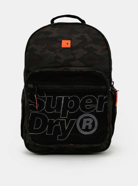 Tmavě zelený vzorovaný batoh Superdry