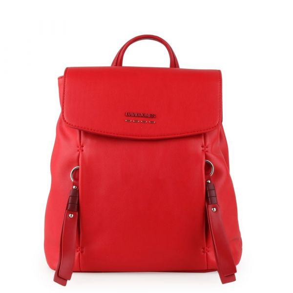 David Jones Paris Dámský batoh 6276-2 – červená
