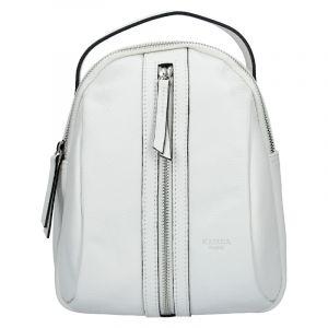 Menší dámský kožený batoh Ninnas Katana – bílá
