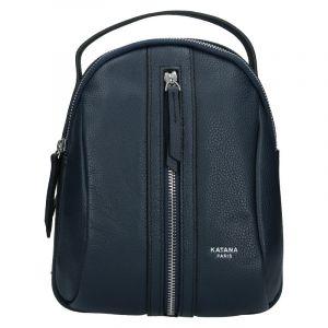 Menší dámský kožený batoh Ninnas Katana – tmavě modrá