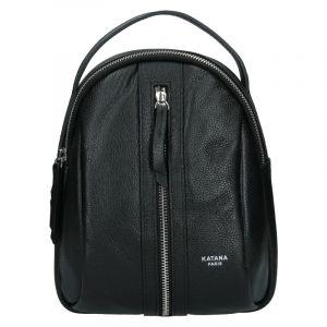 Menší dámský kožený batoh Ninnas Katana – černá