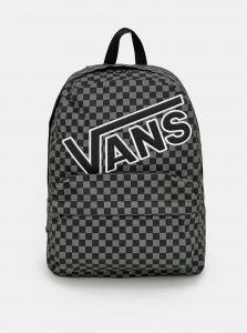 Černý kostkovaný batoh VANS