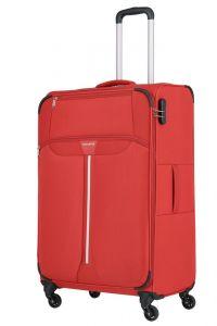 Travelite Látkový cestovní kufr Speedline 4w L Red 89 l