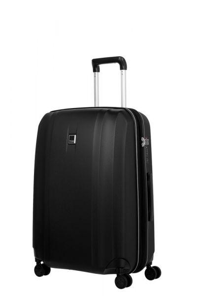 Titan Skořepinový cestovní kufr Xenon 4w M exp Black 76/87 l