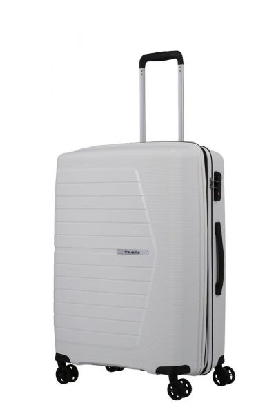 Travelite Skořepinový cestovní kufr Nubis M White 70/76 l