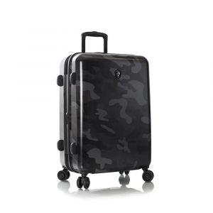 Heys Skořepinový cestovní kufr Black Camo M 87 l