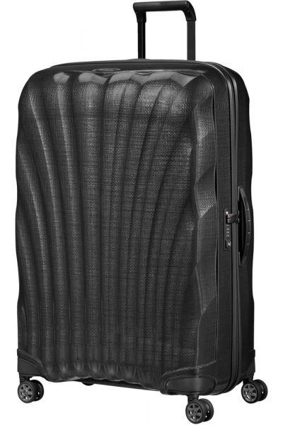 Samsonite Skořepinový cestovní kufr C-lite Spinner 123 l – černá