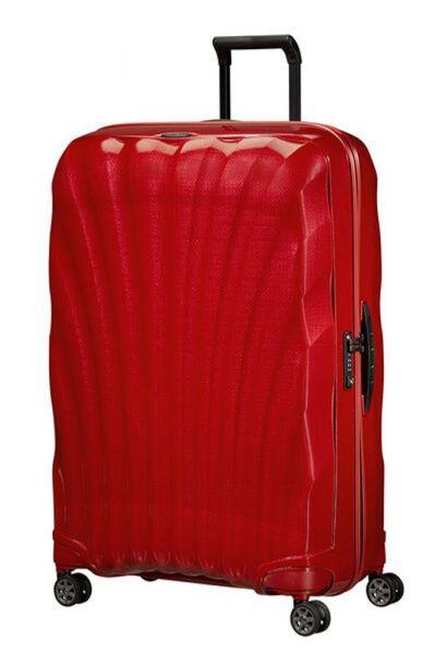 Samsonite Skořepinový cestovní kufr C-lite Spinner 123 l – červená