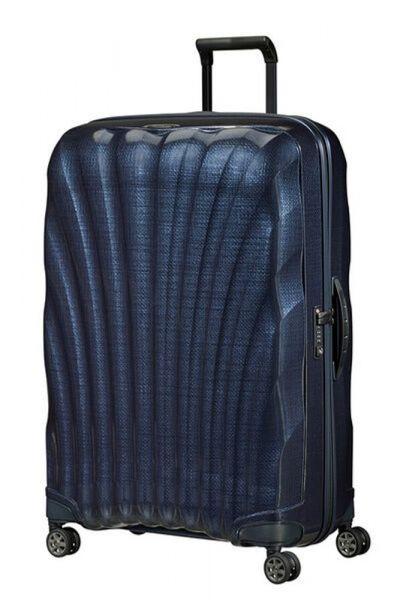 Samsonite Skořepinový cestovní kufr C-lite Spinner 123 l – modrá