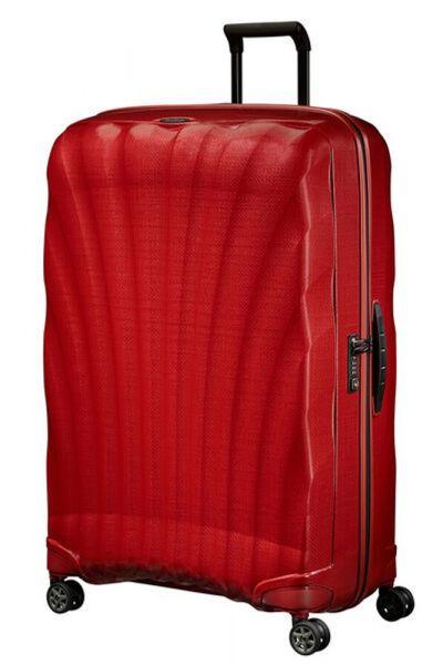 Samsonite Skořepinový cestovní kufr C-lite Spinner 144 l – červená