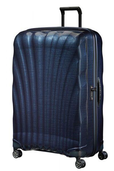 Samsonite Skořepinový cestovní kufr C-lite Spinner 144 l – modrá