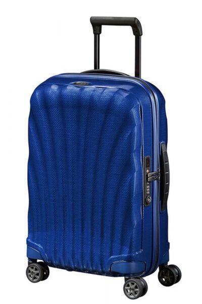 Samsonite Kabinový cestovní kufr C-lite Spinner EXP 36/42 l – tmavě modrá
