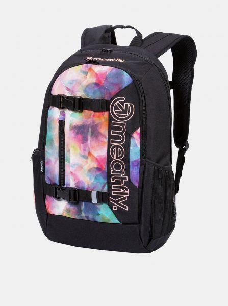 Černý vzorovaný batoh Meatfly Basejumper