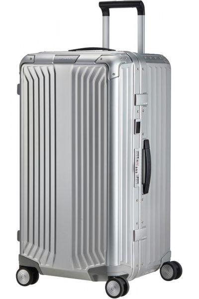 Samsonite Hliníkový cestovní kufr Lite -Box Alu Trunk L 93 l – Aluminium