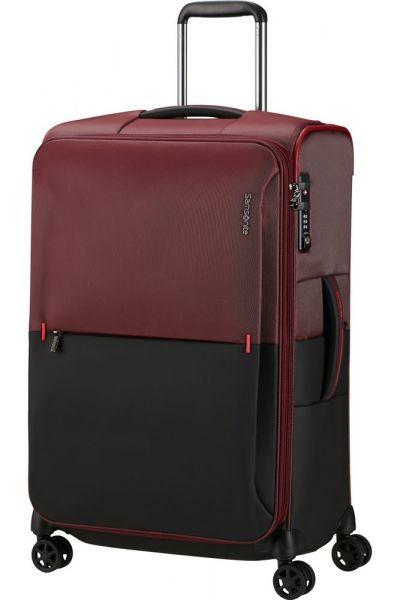 Samsonite Látkový cestovní kufr Rythum EXP 70/76 l – tmavě červená