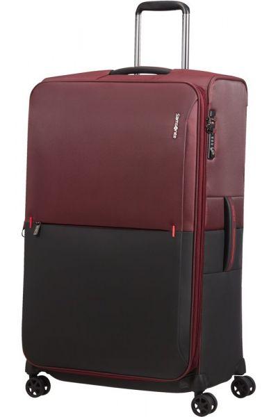 Samsonite Látkový cestovní kufr Rythum EXP 108/114 l – tmavě červená