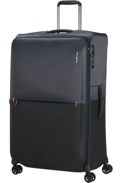 Samsonite Látkový cestovní kufr Rythum EXP 108/114 l – tmavě modrá