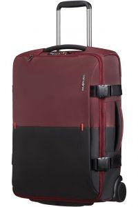 Samsonite Látková cestovní taška na kolečkách Rythum 47 l – tmavě červená