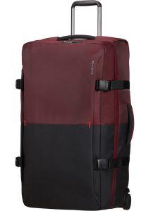 Samsonite Látková cestovní taška na kolečkách Rythum 115 l – tmavě červená