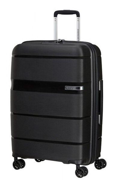 American Tourister Skořepinový cestovní kufr Linex 63 l – černá