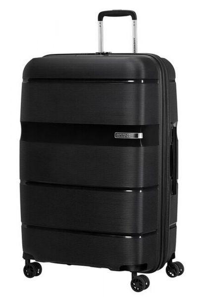 American Tourister Skořepinový cestovní kufr Linex 102 l – černá