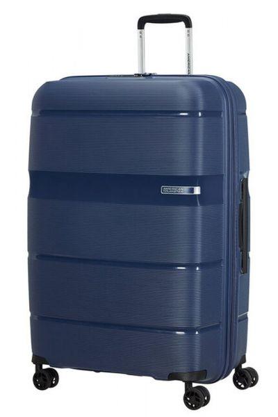 American Tourister Skořepinový cestovní kufr Linex 102 l – tmavě modrá