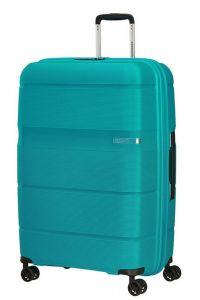 American Tourister Skořepinový cestovní kufr Linex 102 l – tyrkysová