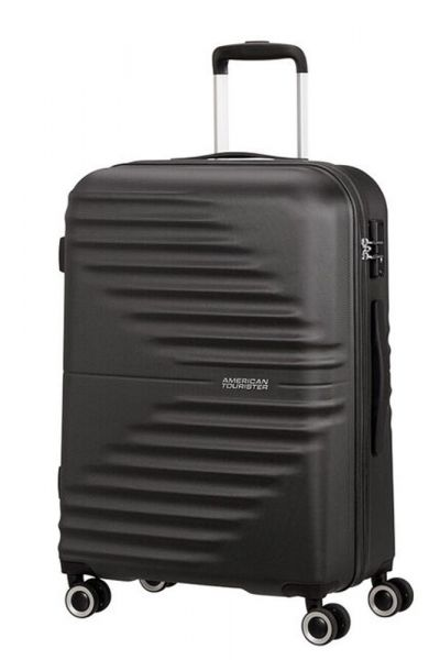 American Tourister Skořepinový cestovní kufr Wavetwister 63 l – černá