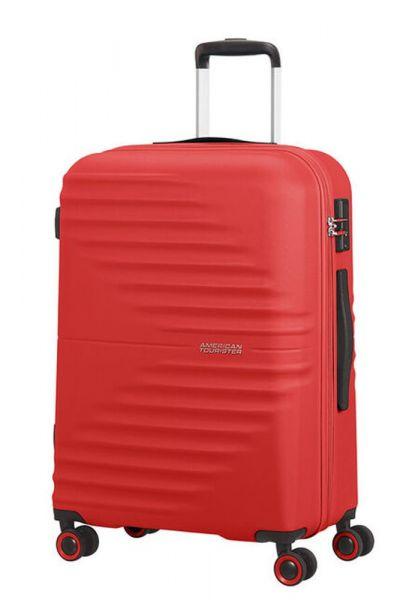 American Tourister Skořepinový cestovní kufr Wavetwister 63 l – červená