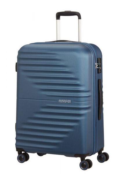 American Tourister Skořepinový cestovní kufr Wavetwister 63 l – tmavě modrá