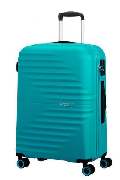 American Tourister Skořepinový cestovní kufr Wavetwister 63 l – tyrkysová