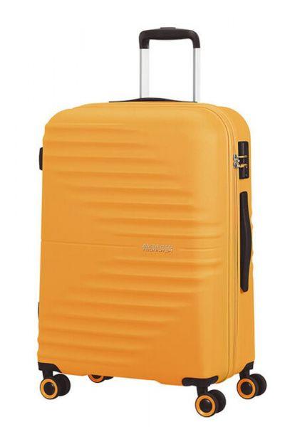American Tourister Skořepinový cestovní kufr Wavetwister 63 l – žlutá