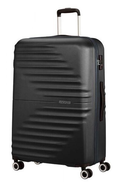 American Tourister Skořepinový cestovní kufr Wavetwister 94 l – černá