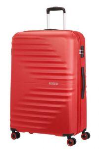 American Tourister Skořepinový cestovní kufr Wavetwister 94 l – červená