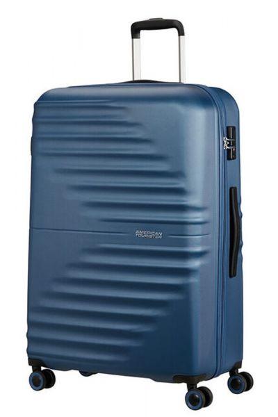 American Tourister Skořepinový cestovní kufr Wavetwister 94 l – tmavě modrá