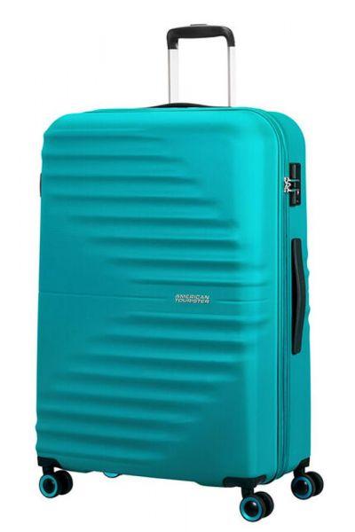 American Tourister Skořepinový cestovní kufr Wavetwister 94 l – tyrkysová
