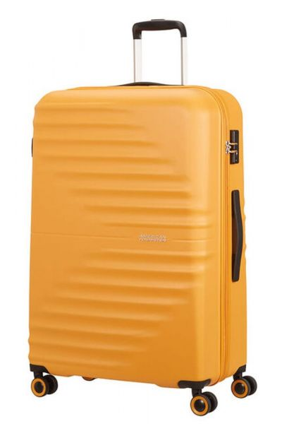 American Tourister Skořepinový cestovní kufr Wavetwister 94 l – žlutá