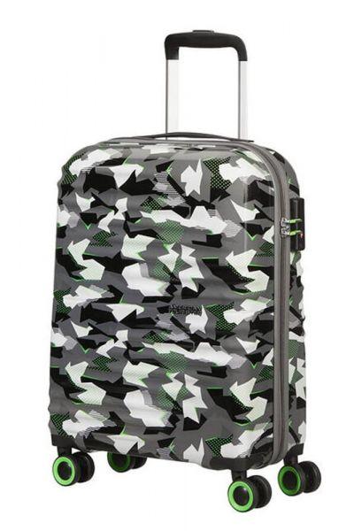 American Tourister Kabinový cestovní kufr Wavetwister Print 33 l – CAMO/ACID GREEN