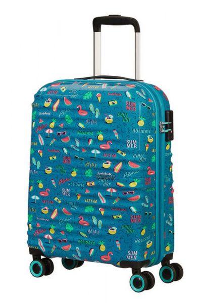 American Tourister Kabinový cestovní kufr Wavetwister Print 33 l – SUMMER RELAX