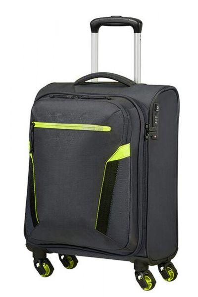 American Tourister Kabinový cestovní kufr AT Eco Spin 40 l – tmavě šedá