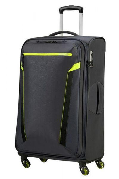 American Tourister Látkový cestovní kufr AT Eco Spin L 93,5 l – tmavě šedá